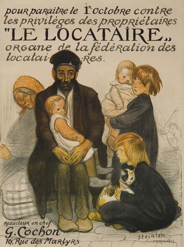 Le Locataire, 1913 - Theophile Steinlen