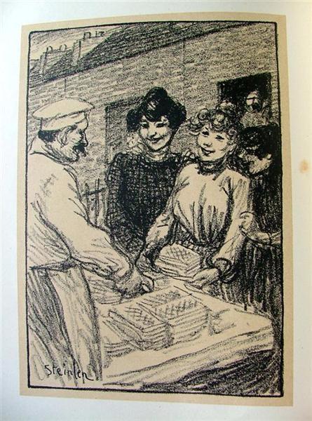 Le Marchand de Gaufres, 1907 - Theophile Steinlen