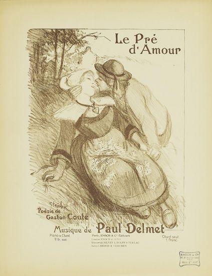 Le Pre D'Amour, 1899 - Theophile Steinlen