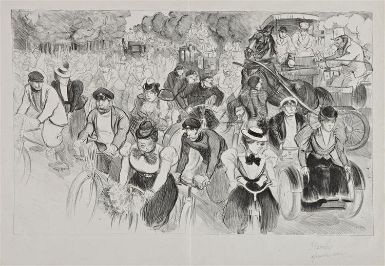 Les Cyclistes, 1889 - Theophile Steinlen