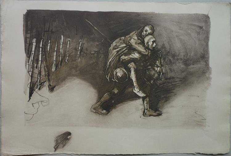 Les Deux Amis, 1917 - Theophile Steinlen