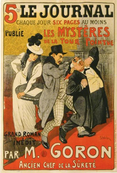 Les Mysteres de la Tour Pointue, 1899 - Theophile Steinlen