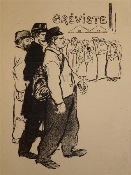 Lettre d'un Greviste, 1893 - Théophile-Alexandre Steinlen