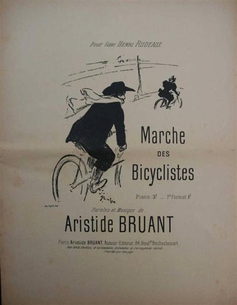 Marche Des Bicyclistes, 1895 - Theophile Steinlen