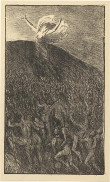 Marche Vers La Lumiere, 1903 - Theophile Steinlen