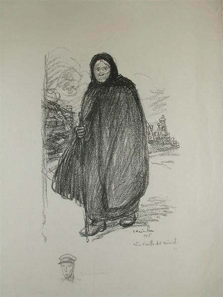 Old woman - Theophile Steinlen