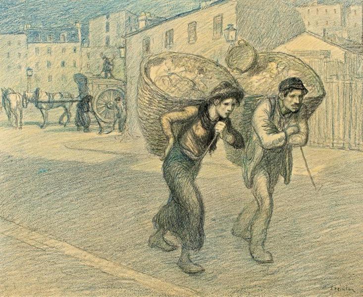 Paris Street Scene - Theophile Steinlen