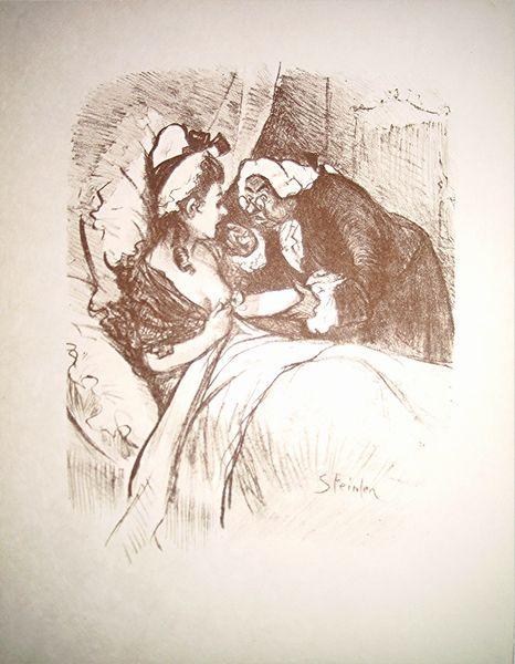 Patient and doctor - Theophile Steinlen