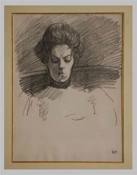 Portrait de Madame Steinlen - Theophile Steinlen