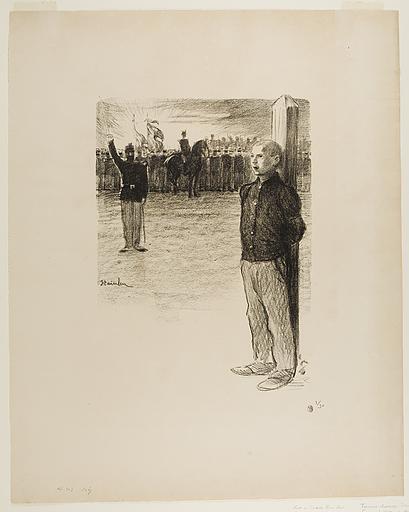 Rehabilitation Civile et Execution Militaire - Théophile Alexandre Steinlen