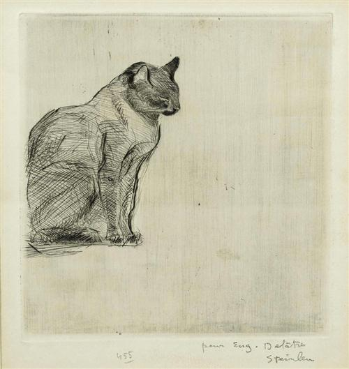Seated cat - Theophile Steinlen