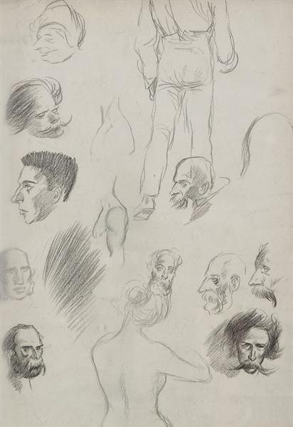 Sketches of people - Théophile-Alexandre Steinlen