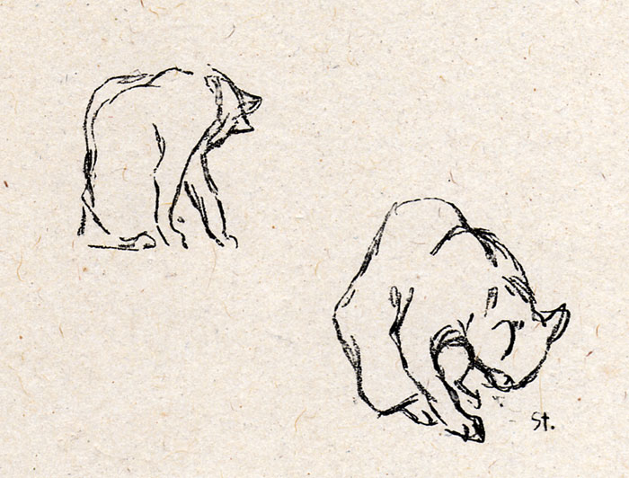 Two Cats - Теофиль Стейнлен