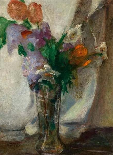 Vase with flowers, c.1925 - c.1930 - Theophrastos Triantafyllidis