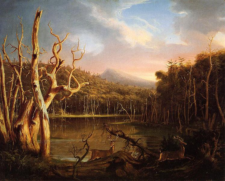 Lake with Dead Trees (Catskill), 1825 - Thomas Cole
