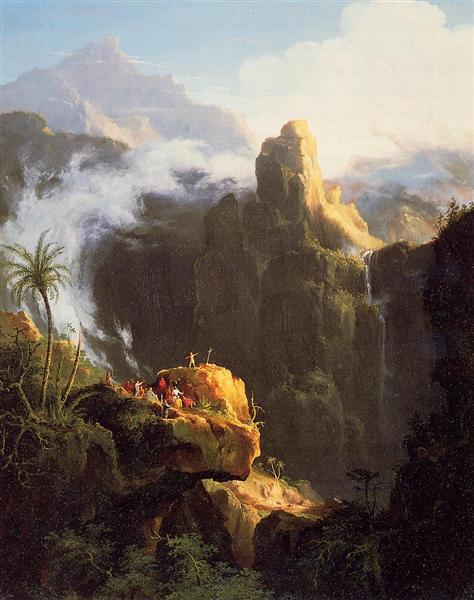 Landscape Composition. St John in the Wilderness, 1827 - Thomas Cole
