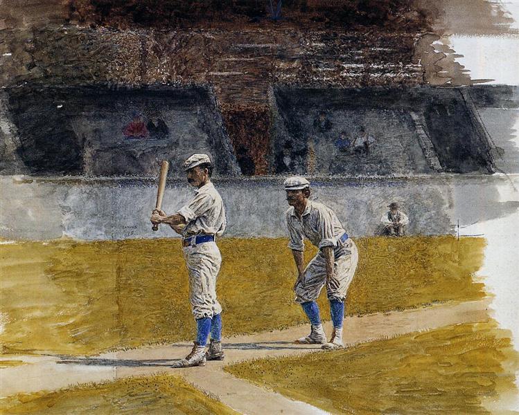 Baseball Players Practicing, 1875 - Thomas Eakins