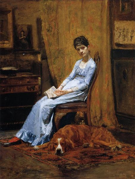 The Artist's Wife and His Setter Dog, 1884 - 1889 - Thomas Eakins
