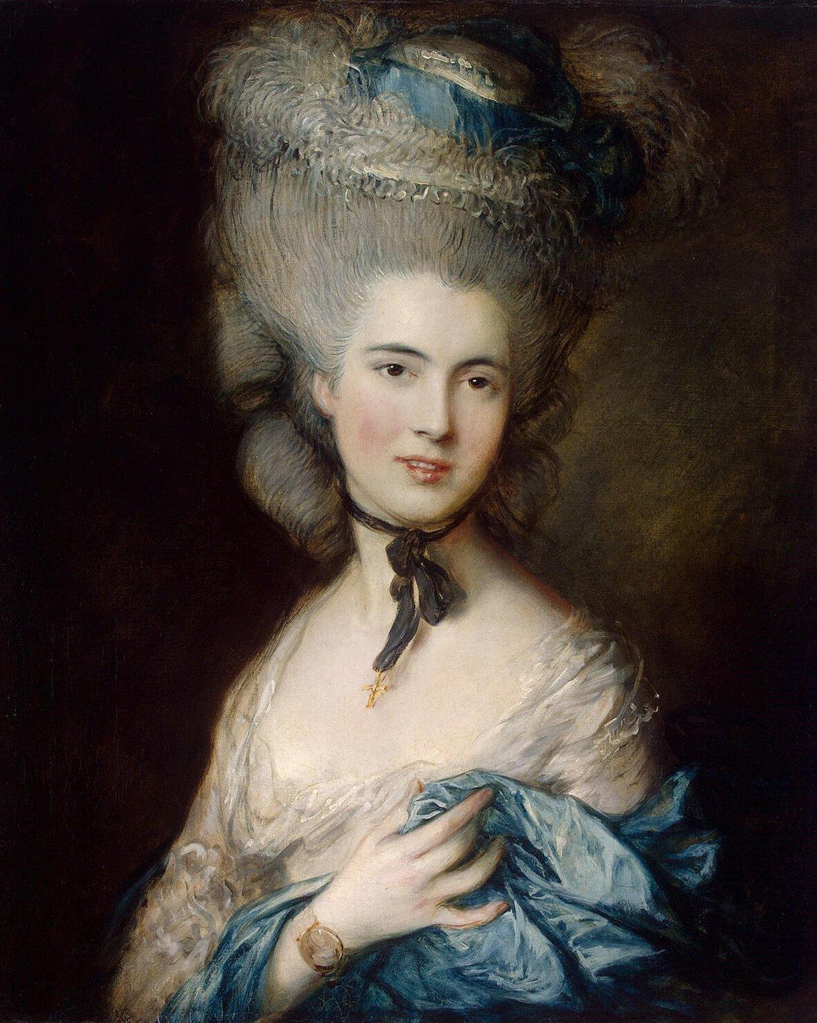 Woman in blue (portrait of the duchess of beaufort)