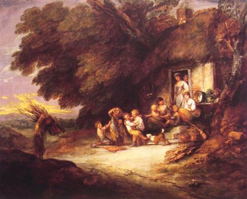 The Cottage Door - Thomas Gainsborough