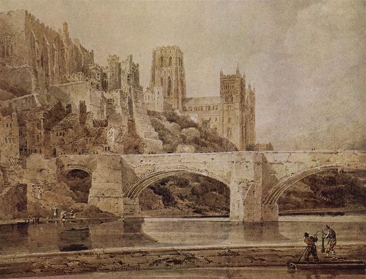 Durham Cathedral and Bridge, 1799 - Thomas Girtin