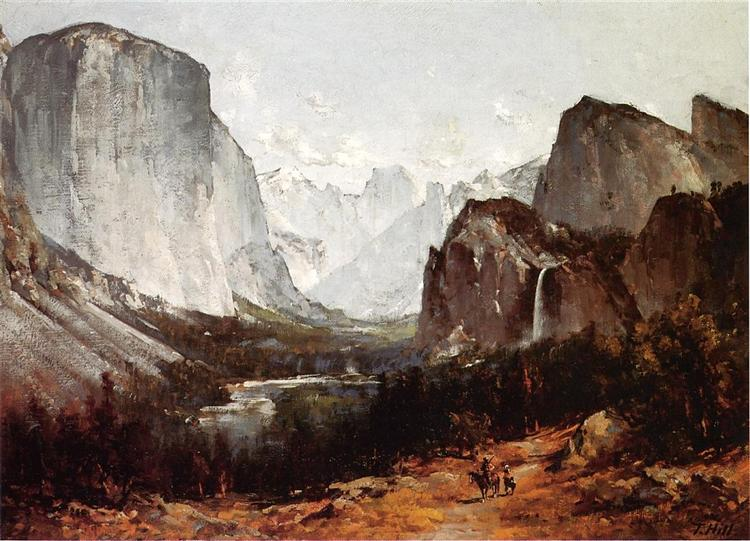 A View of Yosemite Valley - Thomas Hill