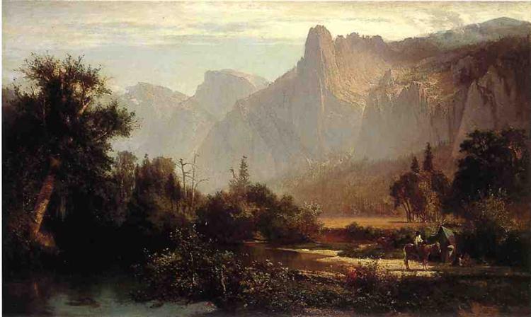 Piute Indian family in Yosemite Valley, 1869 - Thomas Hill
