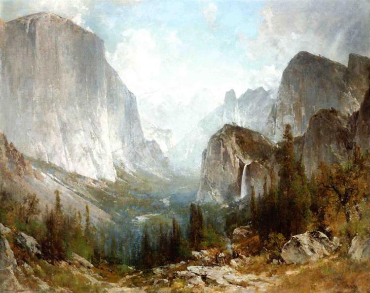 Piute Indians at the Gates of Yosemite, 1888 - Thomas Hill