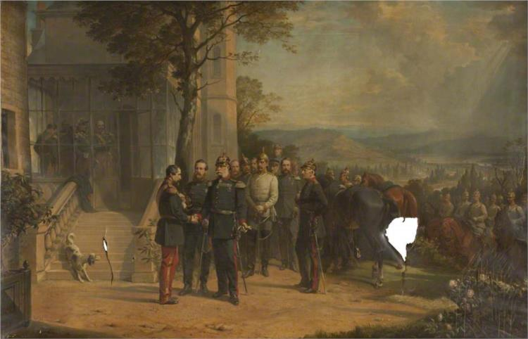 Surrender of Napoleon III at the Battle of Sedan, 1870 - Thomas Jones Barker
