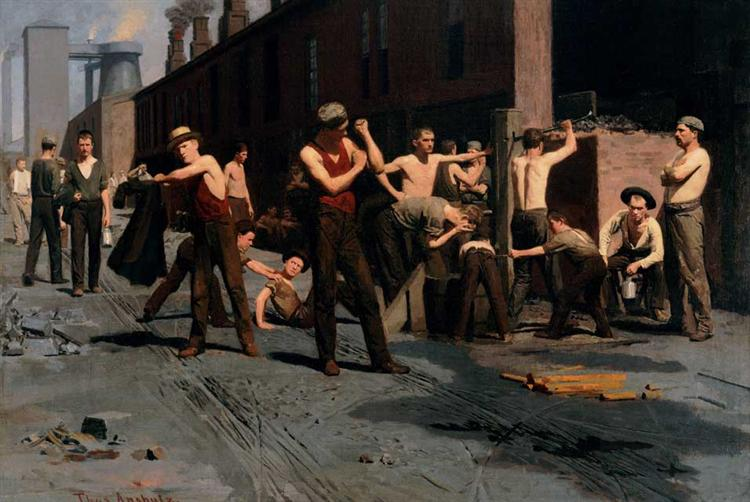 The Ironworkers' Noontime, 1880 - Томас Поллок Аншутц