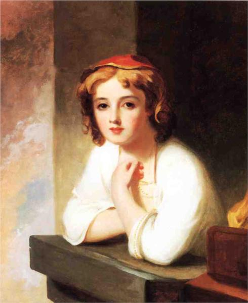 Girl Leaning at a Window - Thomas Sully