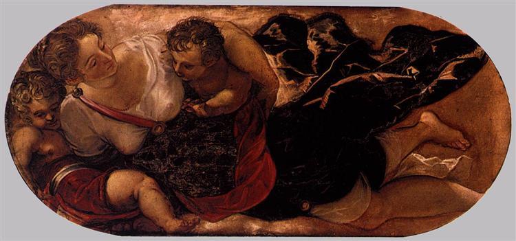 Allegory of the Scuola della Carità, c.1564 - Tintoretto