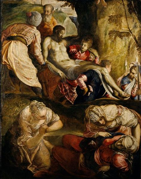 Christ Carried to the Tomb, c.1565 - Tintoretto