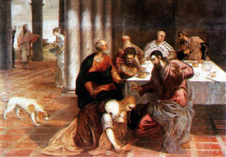 Christ in the house of the Pharisee - Tintoretto