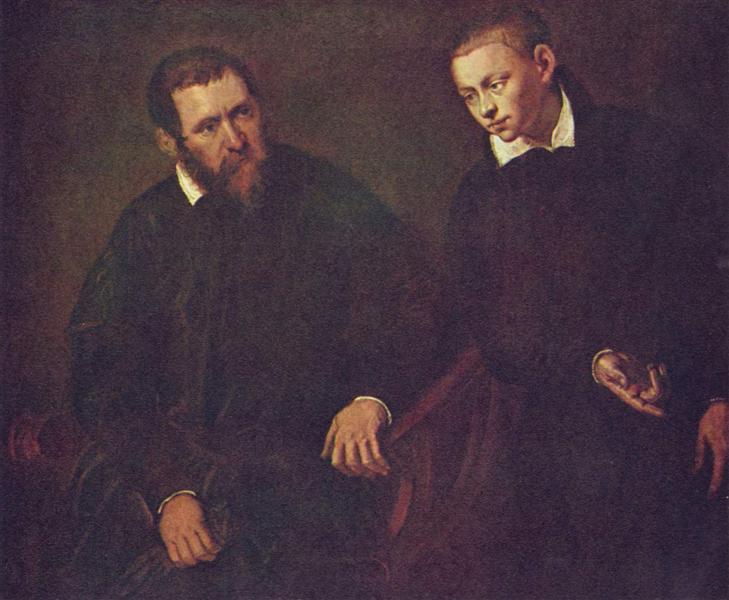 Double portrait of two men - Tintoretto