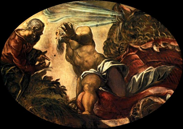 Jonah Leaves the Whale`s Belly, 1577 - 1578 - Tintoretto