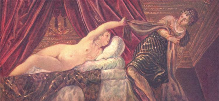 Joseph and Potiphar's wife, c.1544 - Tintoretto
