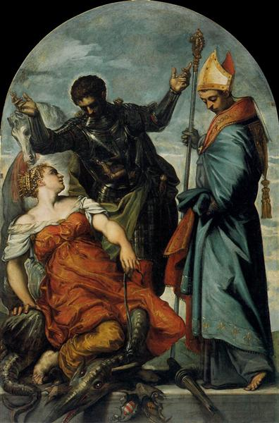 St Louis, St George, and the Princess, c.1553 - Tintoretto