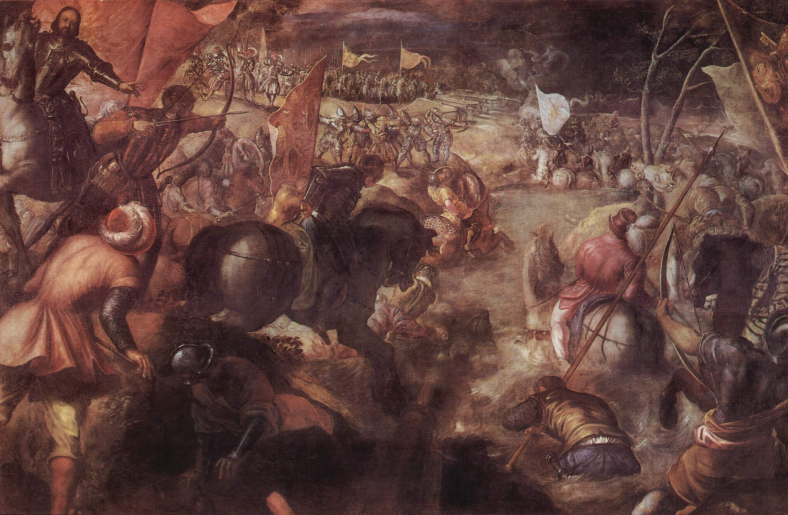 The Battle Of The Taro 1578 1579 Tintoretto Wikiart Org