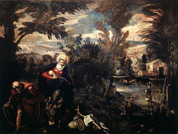 The Flight into Egypt, 1582 - 1587 - Tintoretto