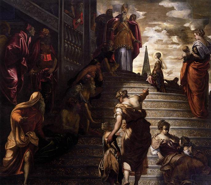The Presentation of the Virgin, 1553 - 1556 - Tintoretto