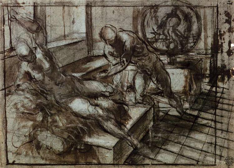 Venus, Mars, and Vulcan, 1551 - Tintoretto
