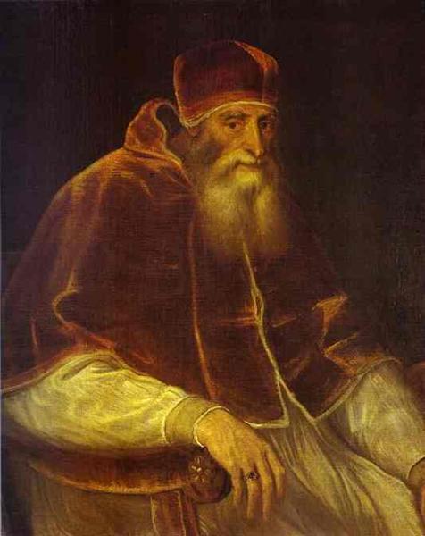 Portrait of Pope Paul III, 1548 - Titian