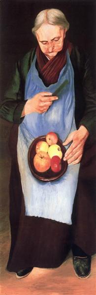 Old Woman Peeliing Apple, 1894 - Tivadar Kosztka Csontvary