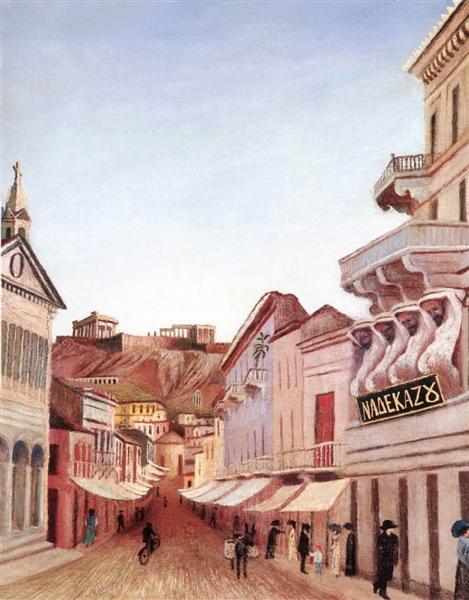 Street in Athen, 1904 - Tivadar Kosztka Csontvary