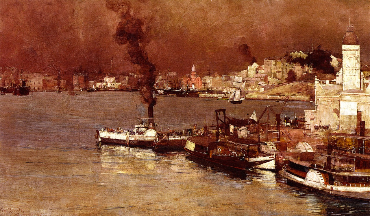 An Autumn Morning, Milson's Point, Sydney, 1888