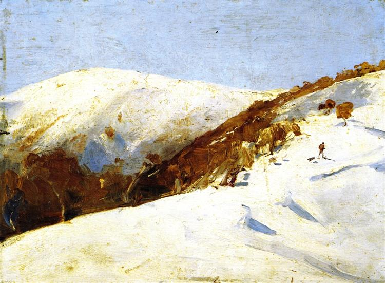 The Mailmana to Omeo, 1888 - Tom Roberts