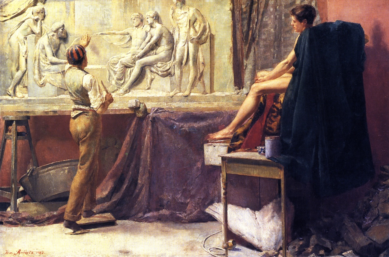 The Sculptor's Studio, 1885
