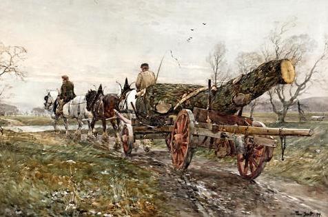 Hauling timber, 1899 - Tom Scott