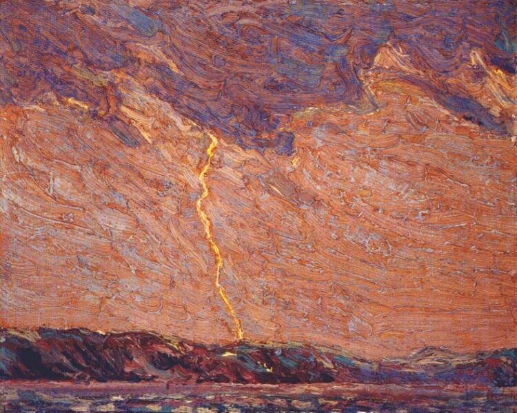 Lightning, Canoe Lake, 1915 - Tom Thomson